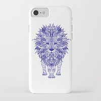 lion iPhone & iPod Cases featuring LIon by Monika Strigel