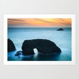 Sunset at Arch Rock Art Print