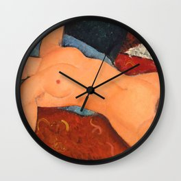 Nu couché 1917 Modigliani Classic Nude Painting Wall Clock
