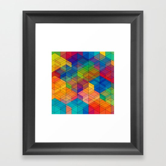 Cuben Intense No.2 Framed Art Print