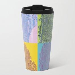 Pop Art Fingerprint Maze Abstract Travel Mug
