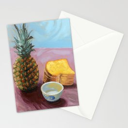 Pineapple in paint Stationery Cards