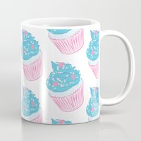 cupcake Mugs featuring Cupcake by Inbeeswax