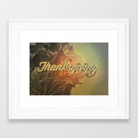 thanksgiving Framed Art Prints featuring Thanksgiving   by SeraphimChris