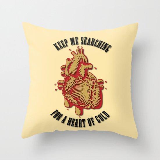 """Heart of Gold""  (""ANALOG zine"") Throw Pillow"