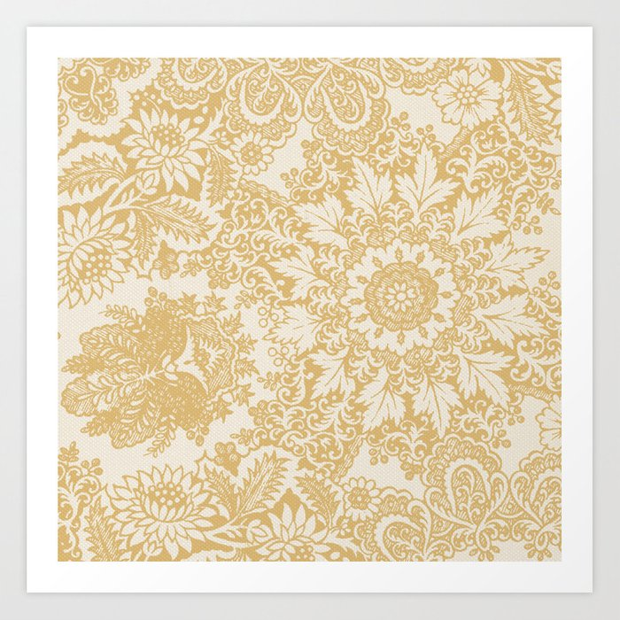 Floral in Yellow Art Print