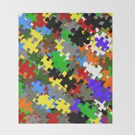 Puzzle Stones Throw Blanket