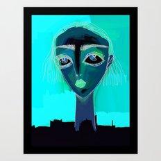 portrait of a gal Art Print