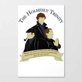 The Holmesly Trinity Canvas Print