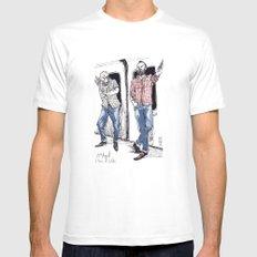 Urban Lumberjacks by Kat Mills White Mens Fitted Tee MEDIUM