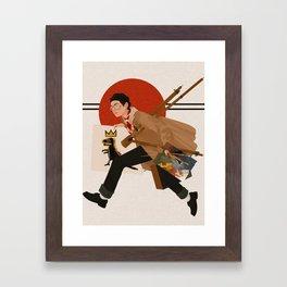 V X Basquiat Framed Art Print