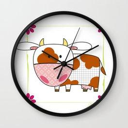 Little cow Wall Clock
