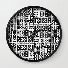 RESIST newsprint Wall Clock