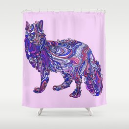 Fox by Night Shower Curtain