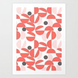 Living Coral Abstract Art Print