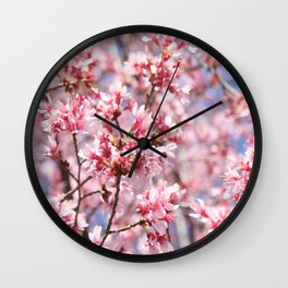 Cherry Blossom Blooms for Spring Wall Clock