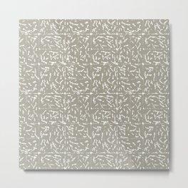 Crosshatch - Taupe Metal Print