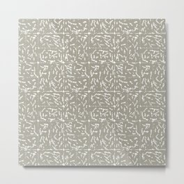 Crosshatch - Taupe Metal Print
