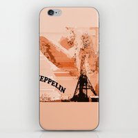 led zeppelin iPhone & iPod Skins featuring Zeppelin by Avigur
