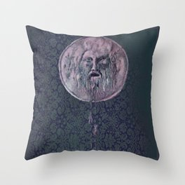 bocca della verita - vintage Throw Pillow