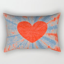 Red starburst valentine heart Rectangular Pillow
