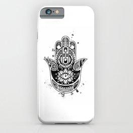 Hamsa Hand Art Black And White Artwork Protective Hand Gift iPhone Case