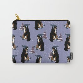 Winter Hat Bernese Mountain Dog  Carry-All Pouch