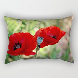 poppies in the summer Rectangular Pillow