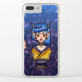 Water Demon Girl Clear iPhone Case