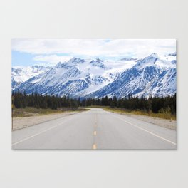 Back down the Road Canvas Print