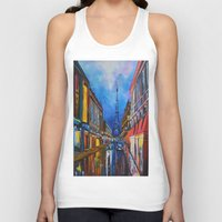 eiffel Tank Tops featuring Eiffel Tower Street by ArtSchool