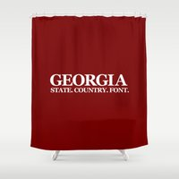 georgia Shower Curtains featuring Georgia by The Cracked Dispensary