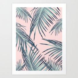 Blush Palm Leaves Dream #1 #tropical #decor #art #society6 Art Print