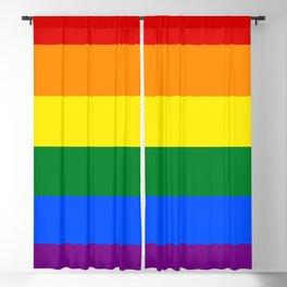 Pride Rainbow Colors Blackout Curtain