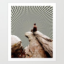 Illusionary Cliff Art Print