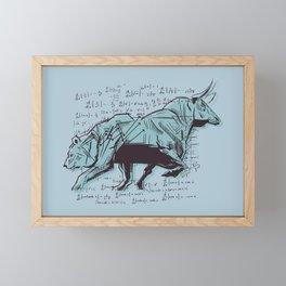 Stock Market Analysis Finance Framed Mini Art Print