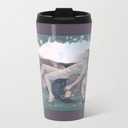 Dionysus and Satyr Metal Travel Mug