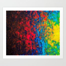 Colorul texture Art Print
