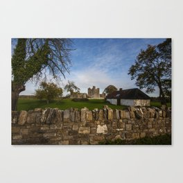 Bective Abbey in the afternoon sunshine Canvas Print