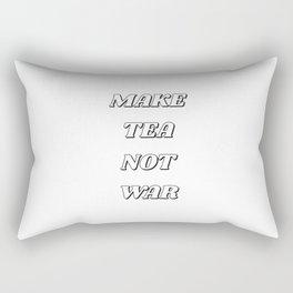 MAKE TEA NOT WAR Rectangular Pillow