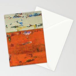 Roadrunner Bright Orange Abstract Colorful Art Painting Stationery Cards