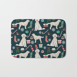 Golden Doodle unique christmas gifts for dog person dog breed pet portraits by pet friendly Bath Mat