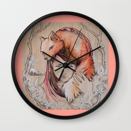 Safe in My Red Riding Hood, Balsa Wall Clock