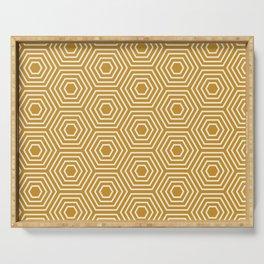 Honeycomb Geometric Pattern Serving Tray