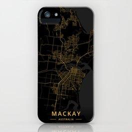 Mackay, Australia - Gold iPhone Case