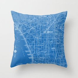 Los Angeles Street Map Throw Pillow