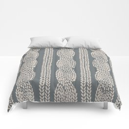Cable Knit Grey Comforters
