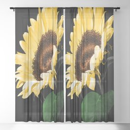 Sunflower Sheer Curtain