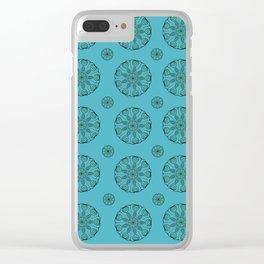 Green Sea Urchin - Mini Mandala Art Clear iPhone Case