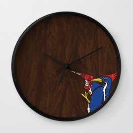 Modern Day Woodpecker Wall Clock